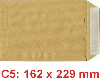 Pochettes c5 162 x 229 mm sans fen tre kraft tremplin for Enveloppe c4 avec fenetre