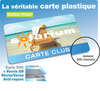 Cartes PVC 5,4 x 8,6 cm couleur RECTO VERSO + VERNIS UV anti-rayure