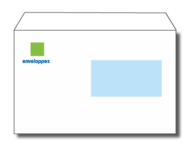 Enveloppes c5 169 x 229 mm 90 gr avec ou sans fen tre for Enveloppe c4 avec fenetre